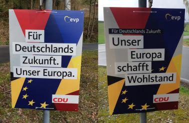 CDU-Wahlplakate in Carlsberg/Hertlingshausen